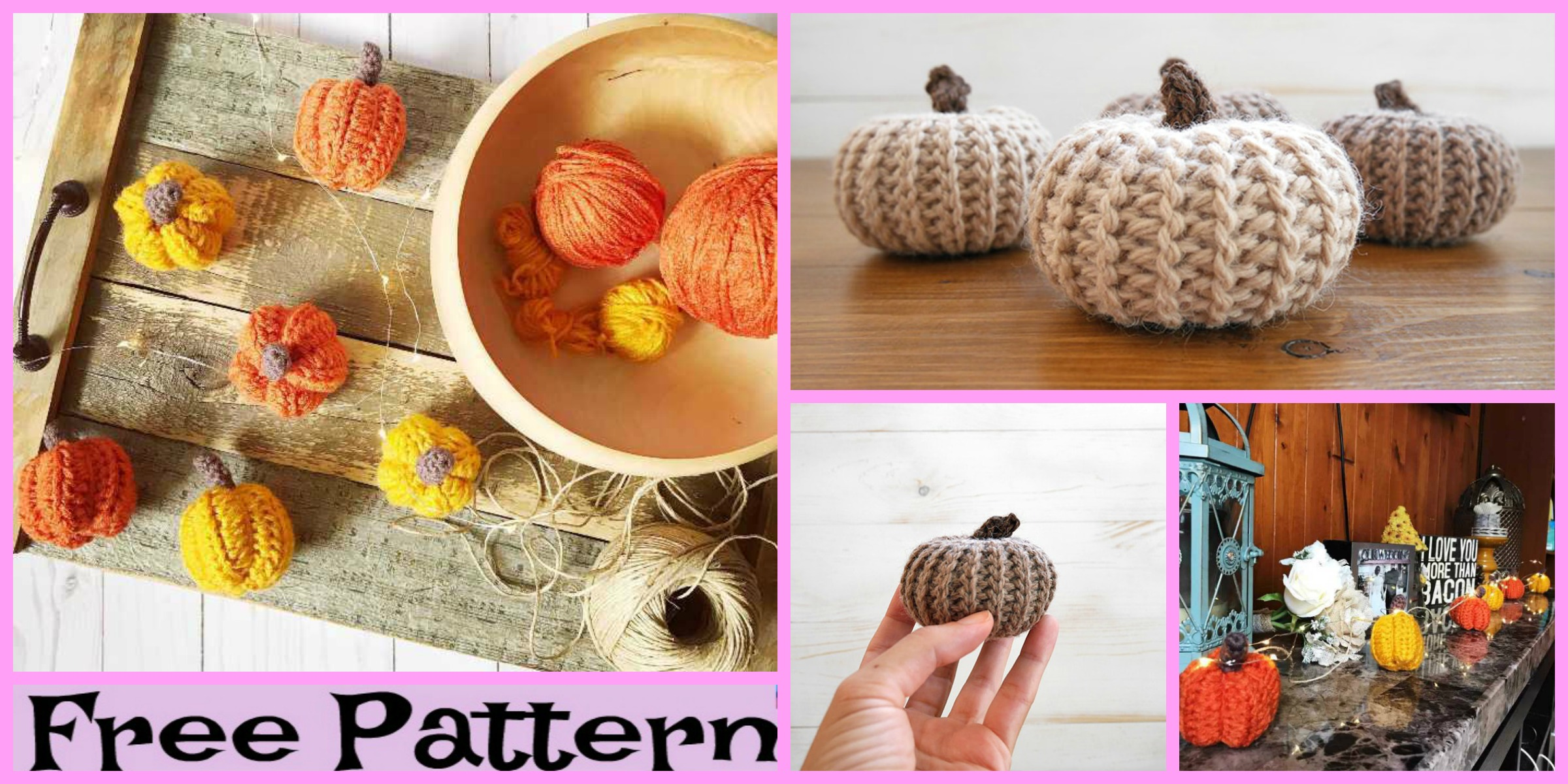 Cute Crochet Mini Pumpkin – Free Patterns
