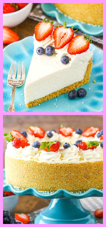 diy4ever-No Bake Cheesecake Recipe