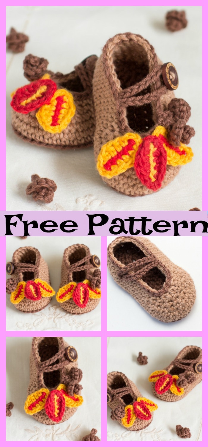 diy4ever-Oak Baby Booties - Free Pattern