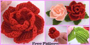 Pretty Crochet 3D Roses - Free Pattern