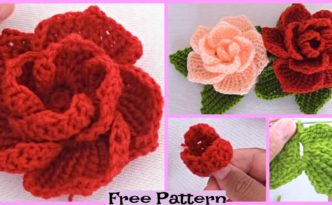 Pretty Crochet 3D Roses - Free Pattern