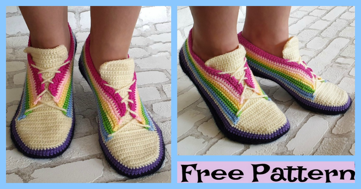 Super Cool  Crochet Sneakers – Free Pattern
