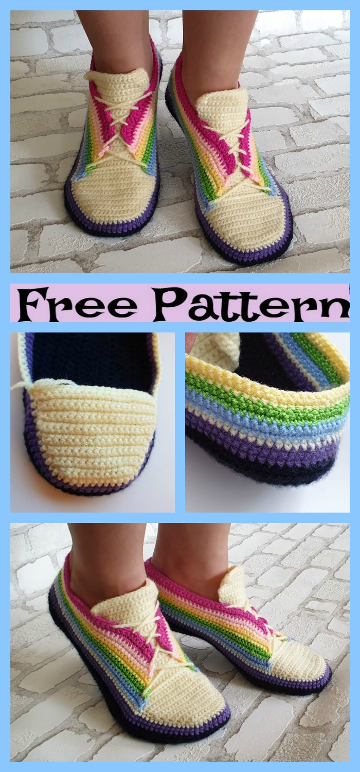 diy4ever-Super Cool Crochet Sneakers - Free Pattern