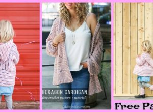 Comfortable Crochet Cardigan – Free Pattern