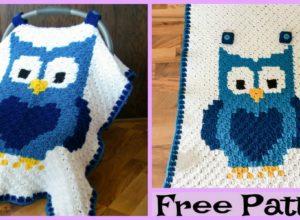 Crochet Owl Car Seat Canopy – Free Pattern