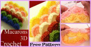 diy4ever-3D Marshmallow Stitch Free Crochet Pattern