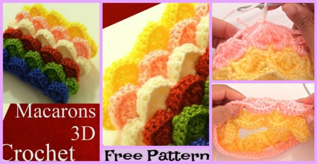 3D Marshmallow Stitch Free Crochet Pattern