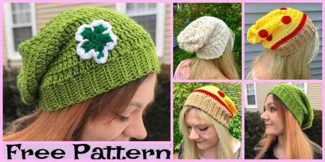 Cozy Crochet Slouchy Hats – Free Patterns