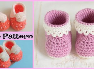 Adorable Crochet Baby Boots – Free Patterns