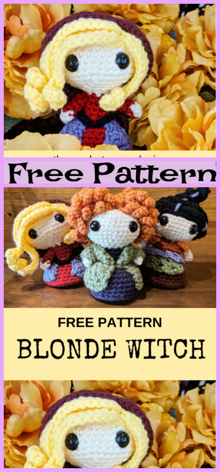 diy4ever-Crochet Blonde Witch - Free Pattern