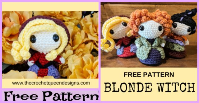 Halloween Crochet Blonde Witch – Free Pattern
