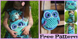 diy4ever-Crochet Blue Owl Purse - Free Pattern