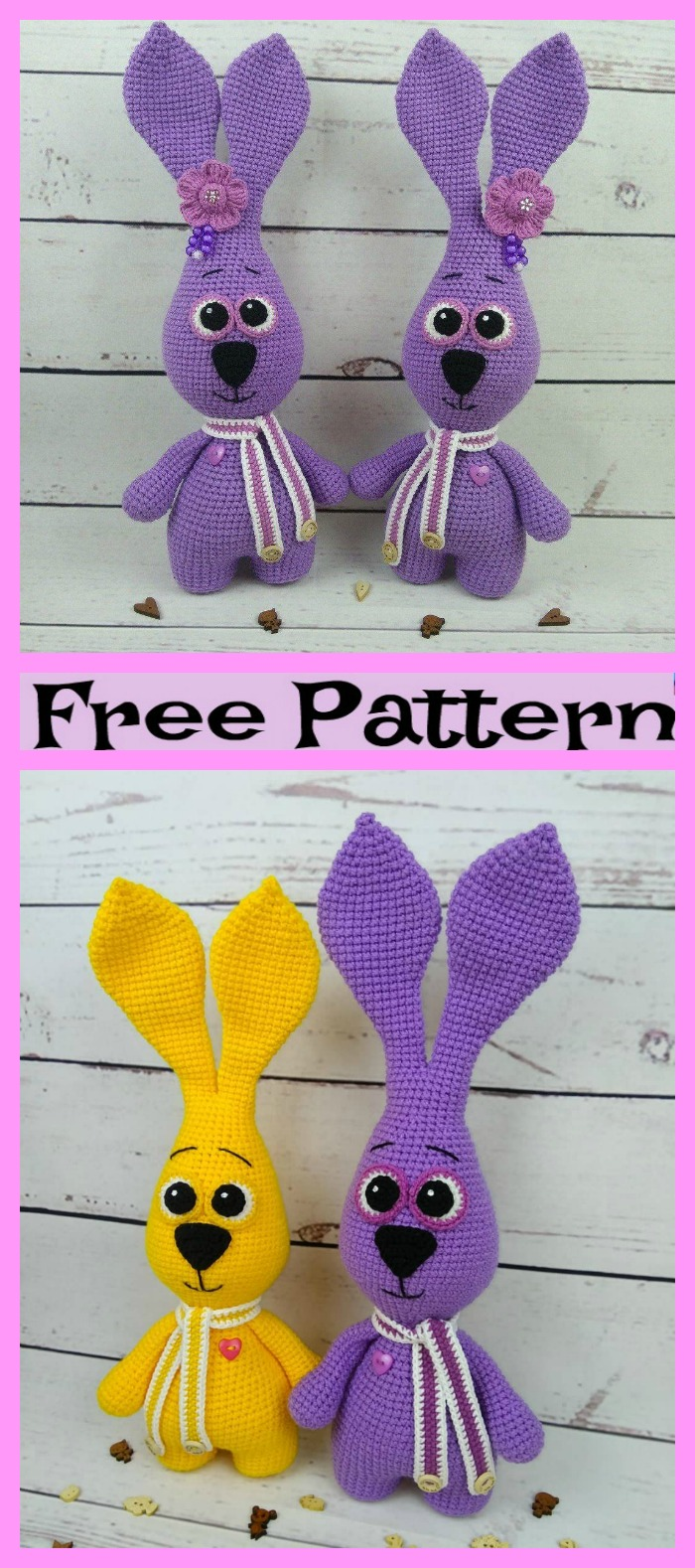 diy4ever-Crochet Bunny Amigurumi - Free Patterns
