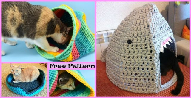 Crochet Cozy Cat House – Free Patterns