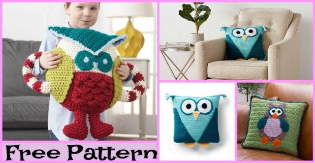 Crochet Cute Owl Pillow – Free Patterns