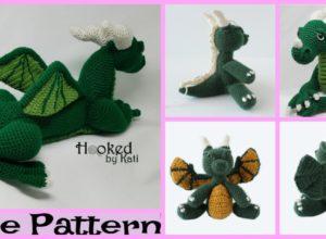 Cute Crochet Dragon Amigurumi – Free Patterns