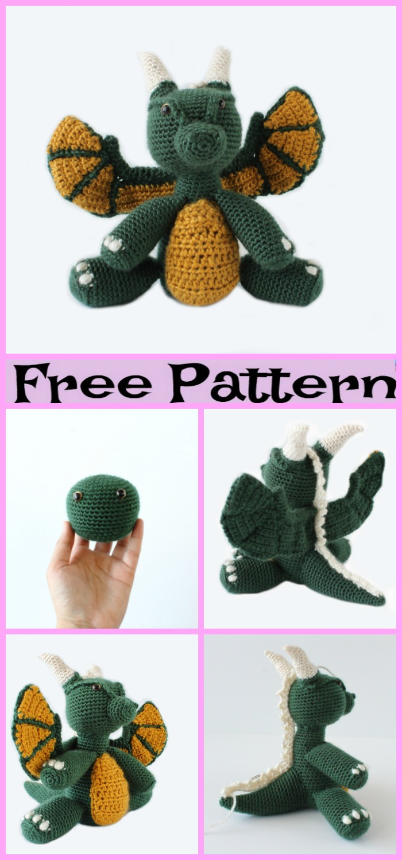 diy4ever-Crochet Dragon Amigurumi - Free Patterns