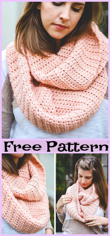 diy4ever-Crochet Easy Winter Scarf - Free Pattern