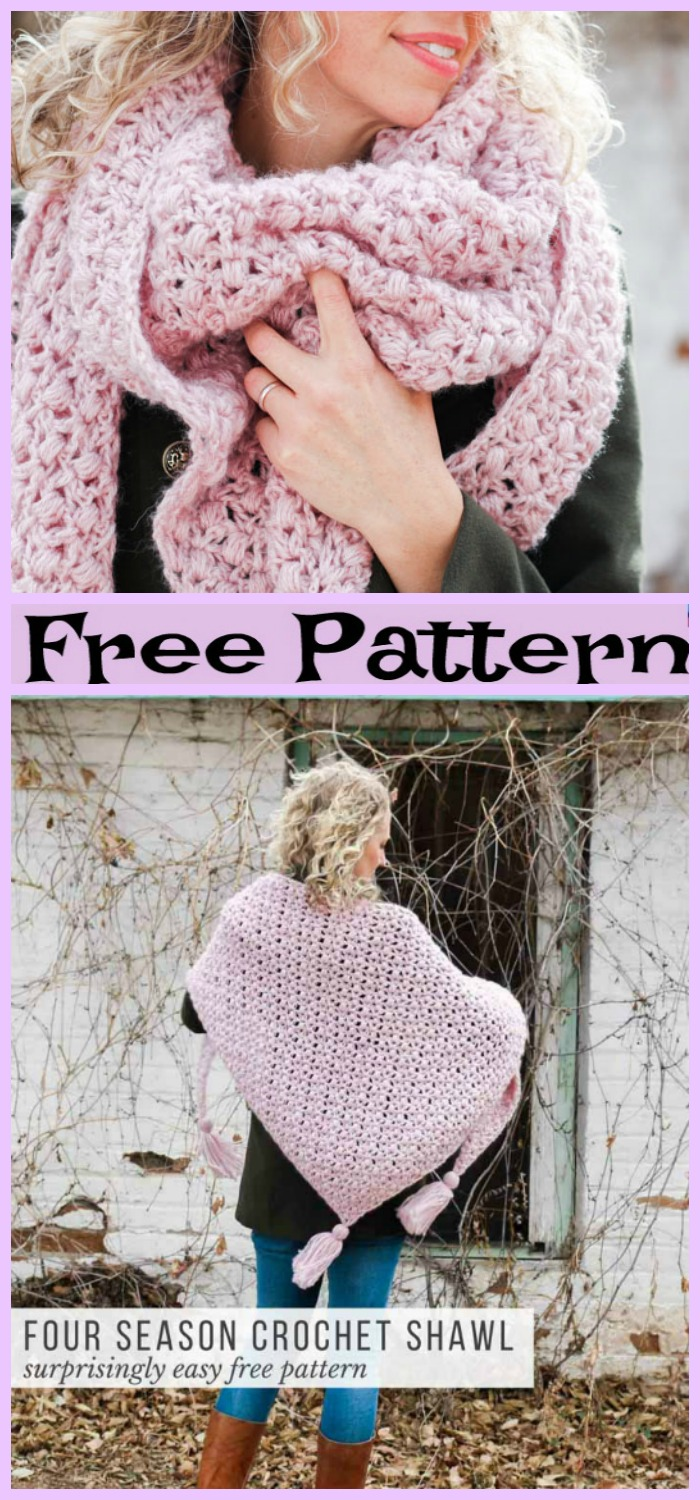 diy4ever-Crochet Easy Winter Scarf - Free Pattern