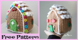 diy4ever-Crochet Gingerbread House - Free Pattern