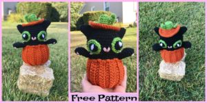 diy4ever-Crochet Halloween Pumpkin Kitty – Free Pattern