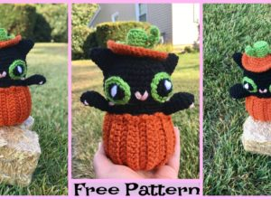 Crochet Halloween Pumpkin Kitty –  Free Pattern