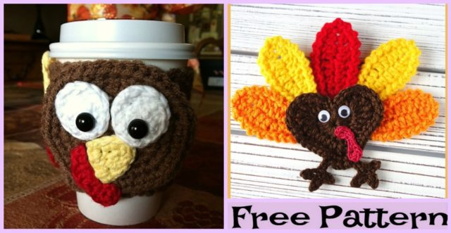 Crochet Heart Turkey – Free Patterns