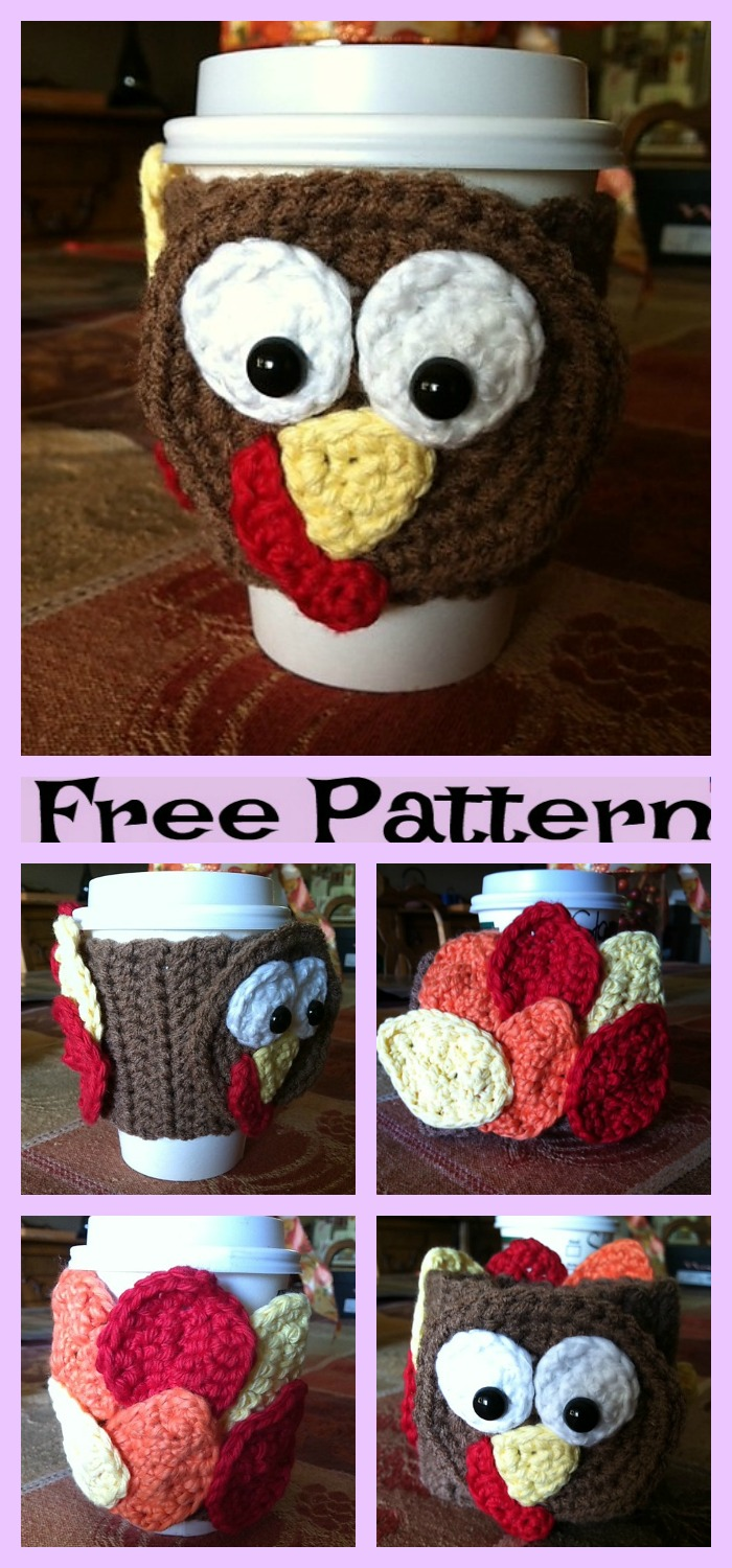 diy4ever-Crochet Heart Turkey - Free Patterns