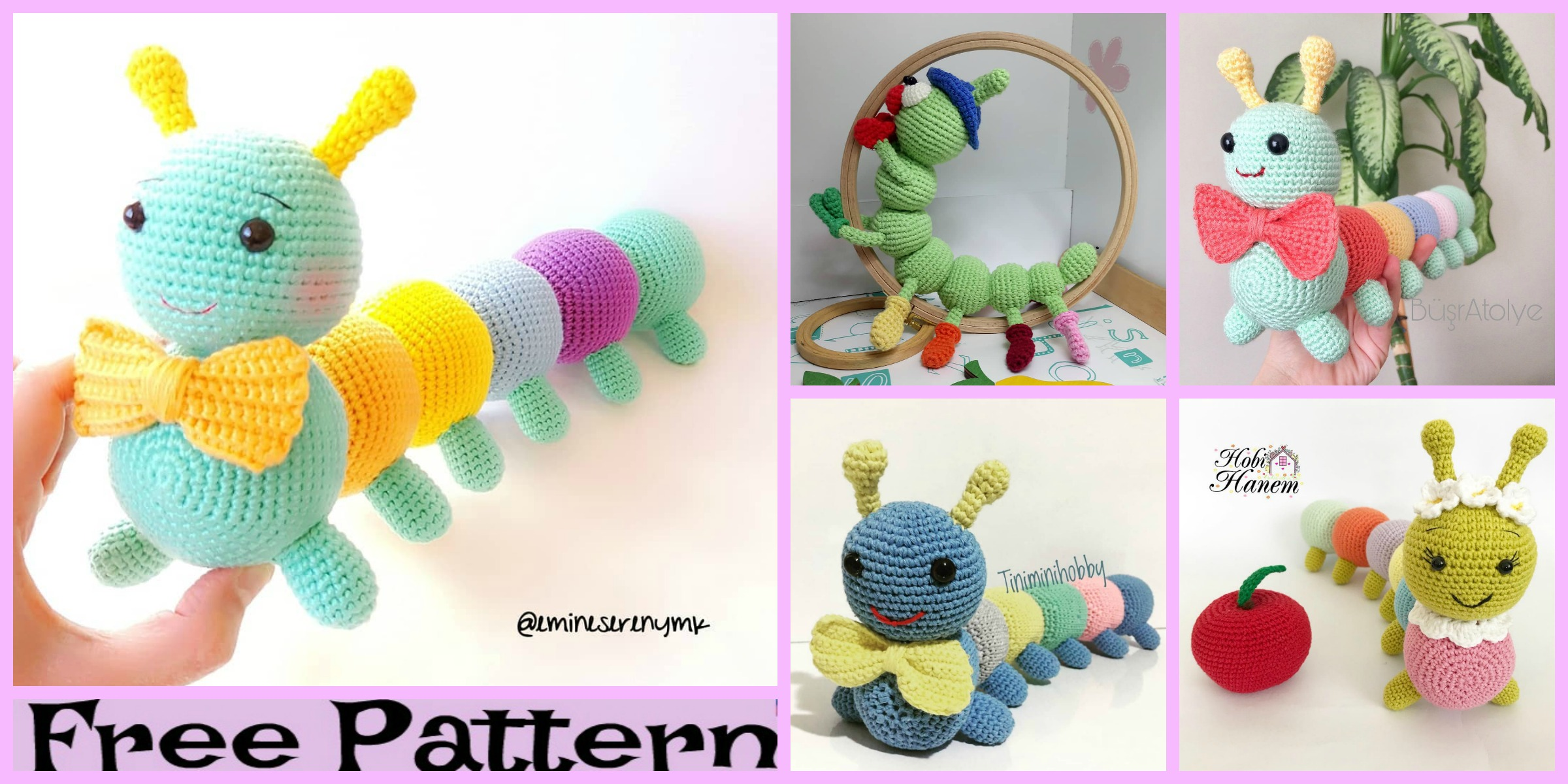 Cute Crochet Little Caterpillar – Free Pattern