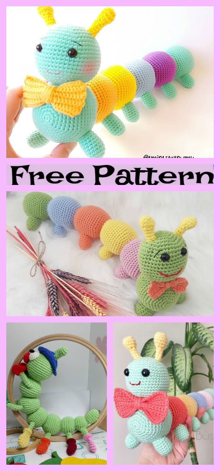 diy4ever-Crochet Little Caterpillar - Free Pattern