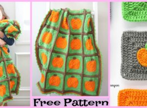 Crochet Pumpkin Patch Blanket – Free Pattern