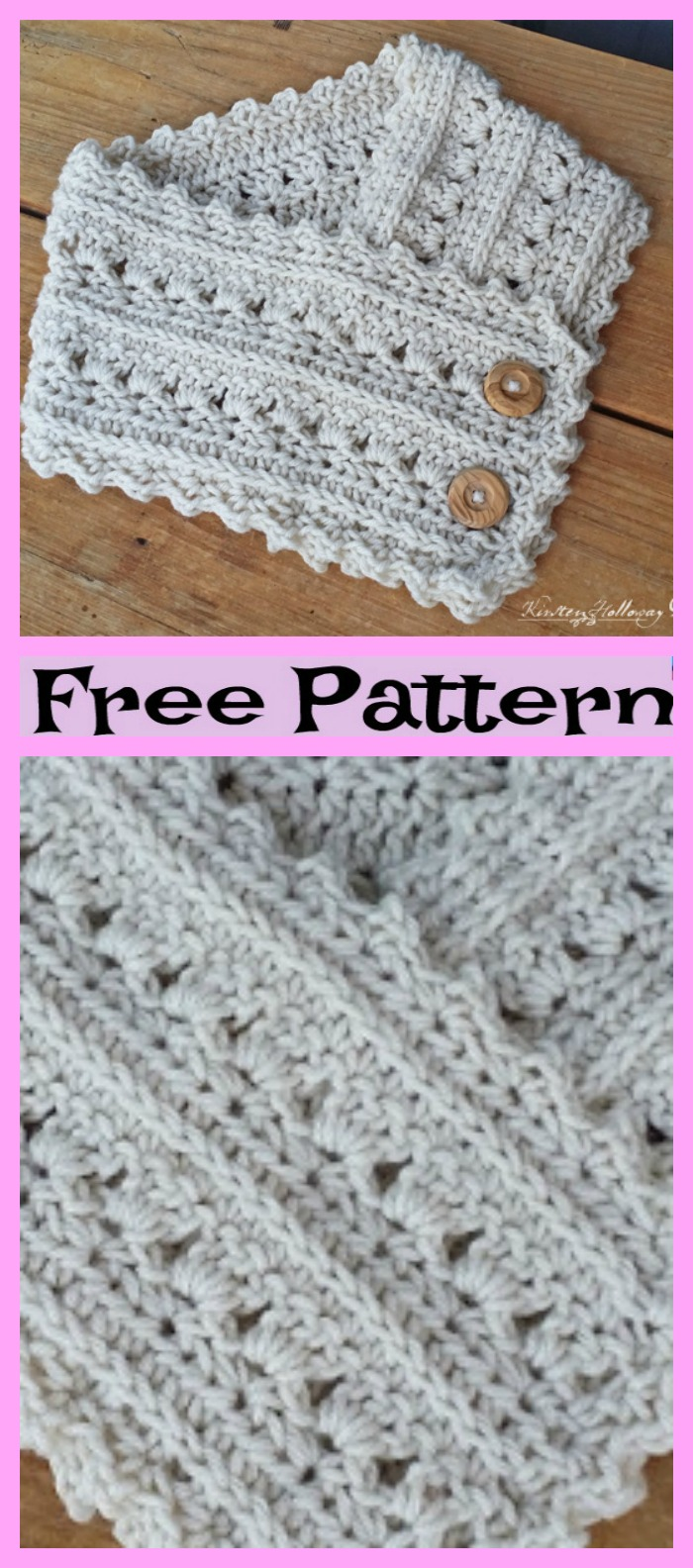 diy4ever-Crochet Secret Garden Neck Warmers - Free Pattern