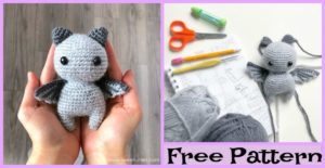diy4ever-Crochet Sir Batwington Bat Amigurumi – Free Pattern