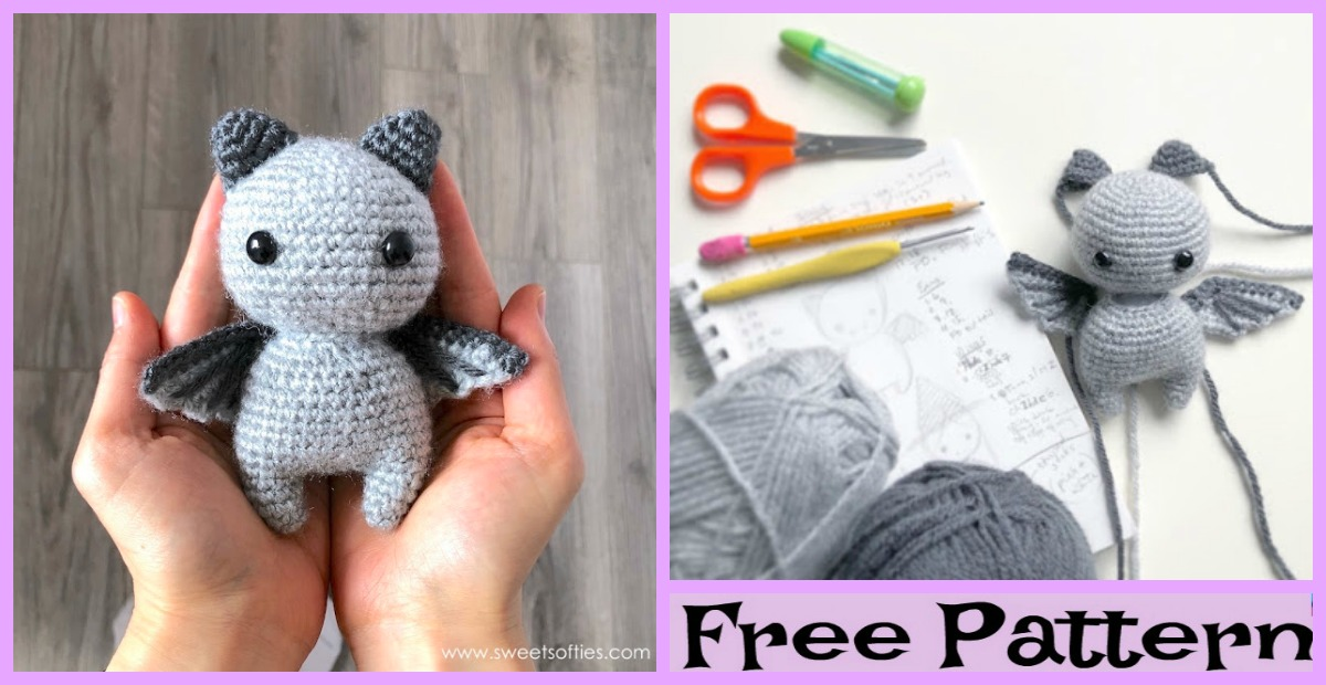 Crochet Sir Batwington Bat Amigurumi – Free Pattern