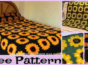 Crochet Sunflower Blanket – Free Pattern