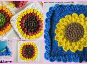 Crochet Sunflower Granny Squares – Free Pattern
