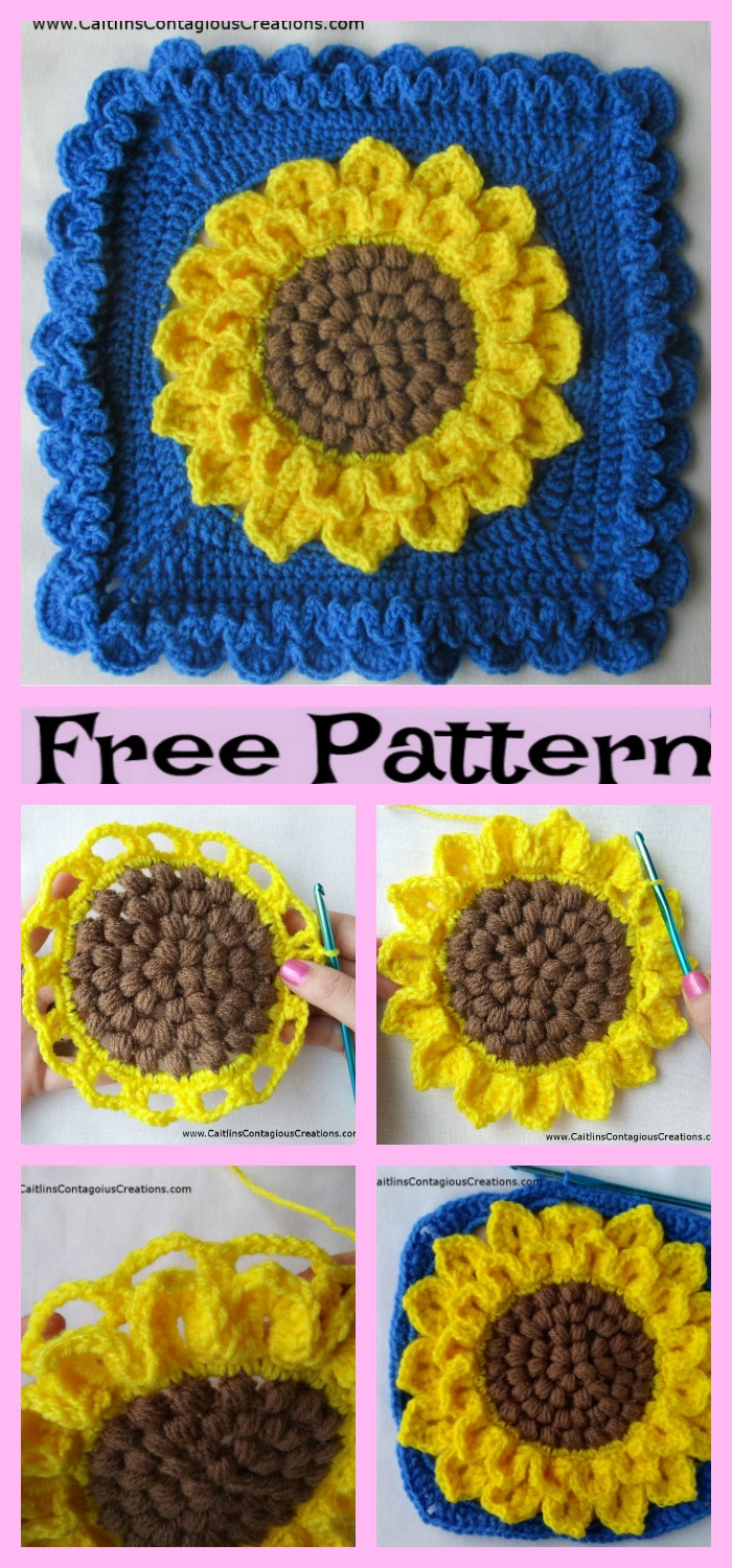 diy4ever-Crochet-Sunflower-Granny-Squares-Free-Pattern