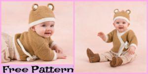 diy4ever-Crochet Teddy Sweater Hat Set - Free Pattern