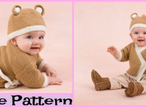 Crochet Teddy Sweater Hat Set – Free Pattern