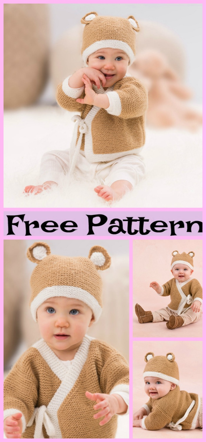 diy4ever-Crochet Teddy Sweater Hat Set - Free Pattern
