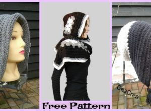 Crochet Winter bonnet – Free Patterns