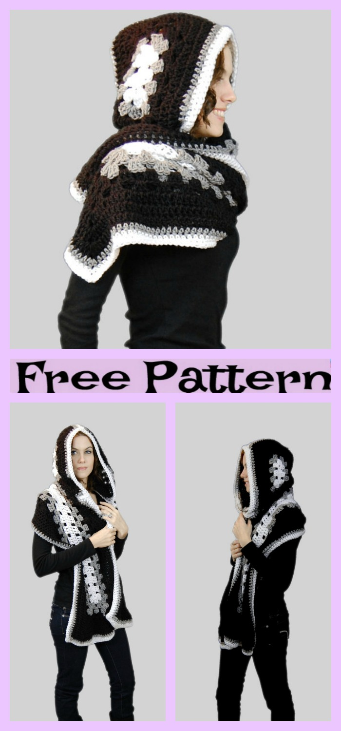 diy4ever-Crochet Winter bonnet - Free Patterns