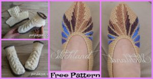 diy4ever-Homemade-knitted-Slippers-Free-Patterns