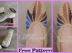 Homemade knitted Slippers – Free Patterns