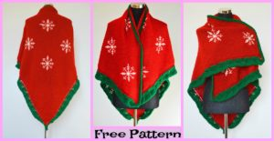 diy4ever-Knit Christmas Eve Shawl - Free Pattern