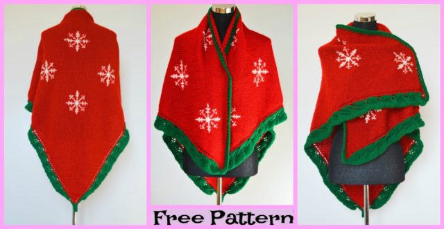 Knit Christmas Eve Shawl – Free Pattern