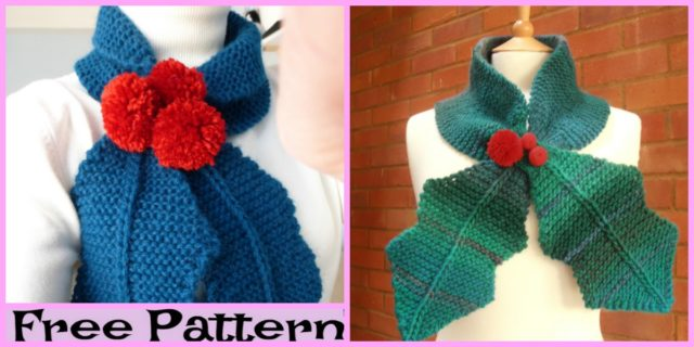 Beautiful Knit Holly Scarf – Free Pattern