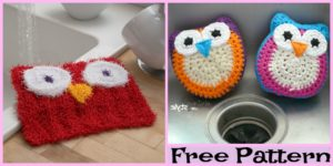 Knit Wise Owl Scrubby - Free Pattern