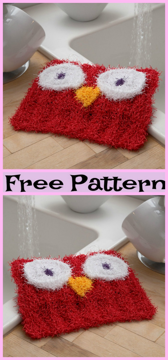 diy4ever-Knit Wise Owl Scrubby - Free Pattern