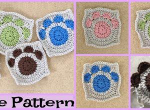 Paw Print Granny Squares – Free Crochet Pattern